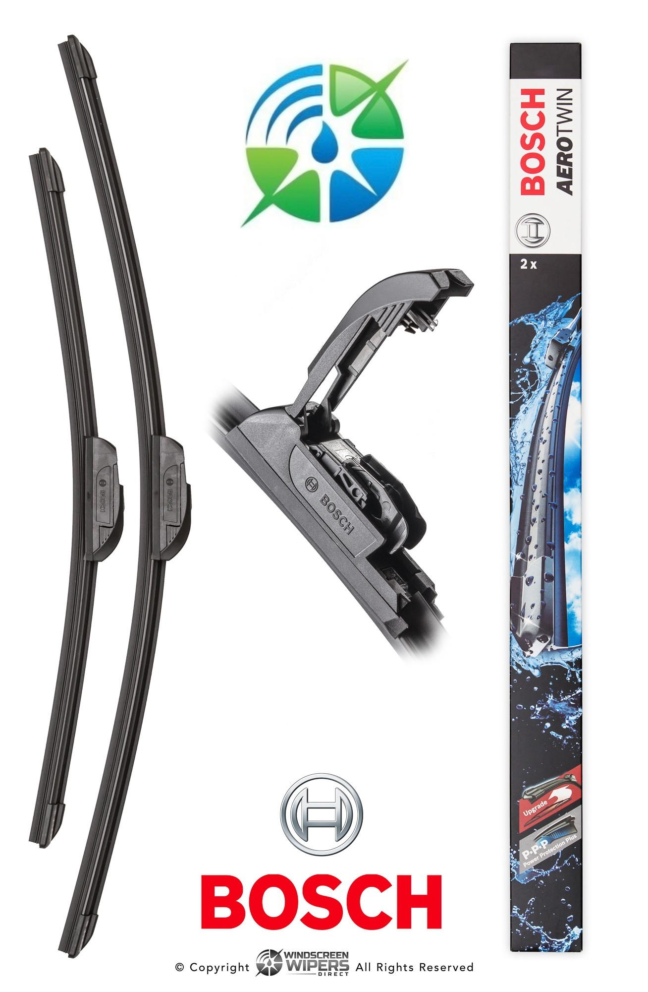 "AR141S Bosch Retro-Fit Twin Pack 26""(650mm) 16""(400mm)"