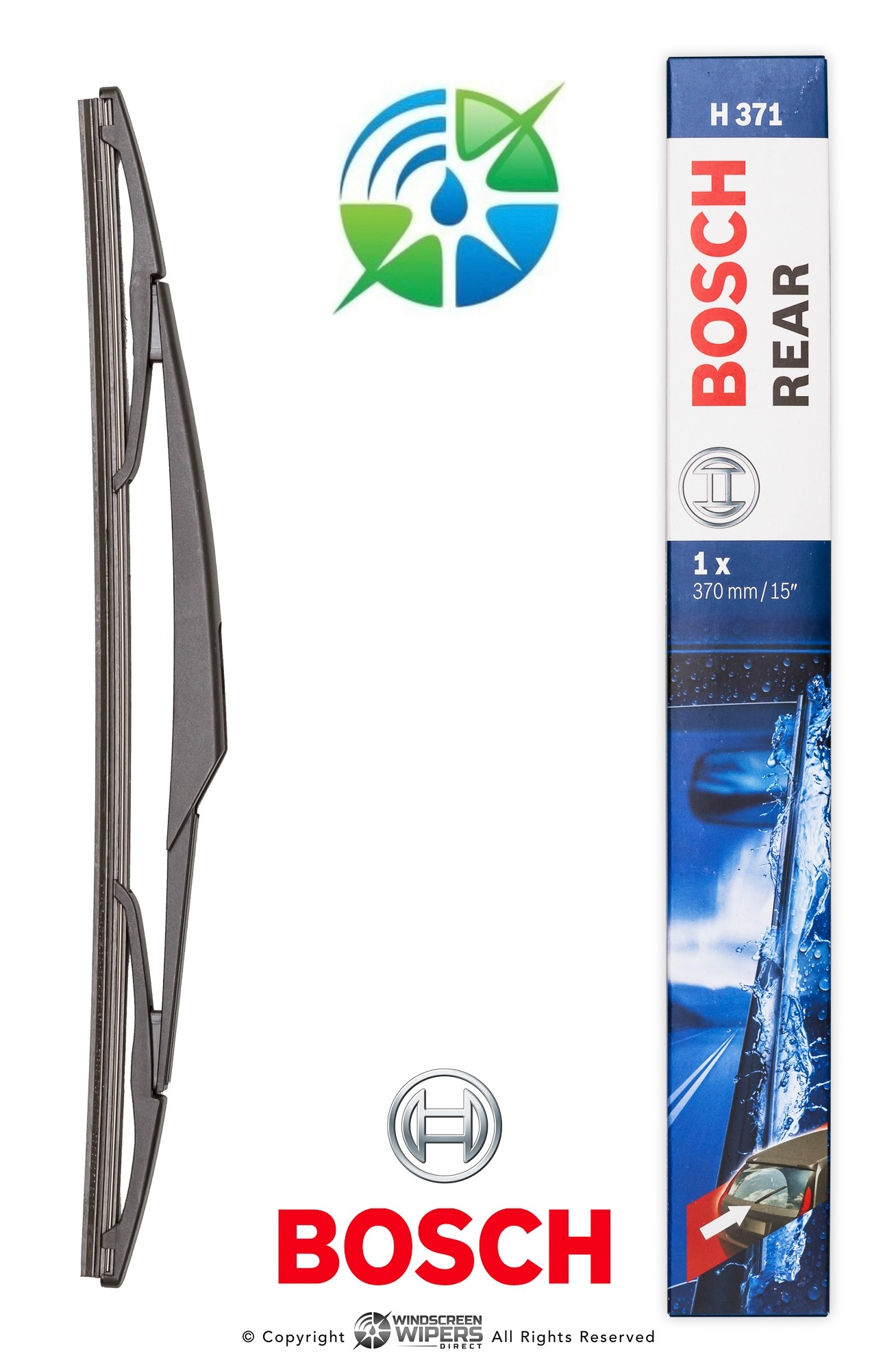 "H371 Bosch Rear Wiper 15"" 370mm"