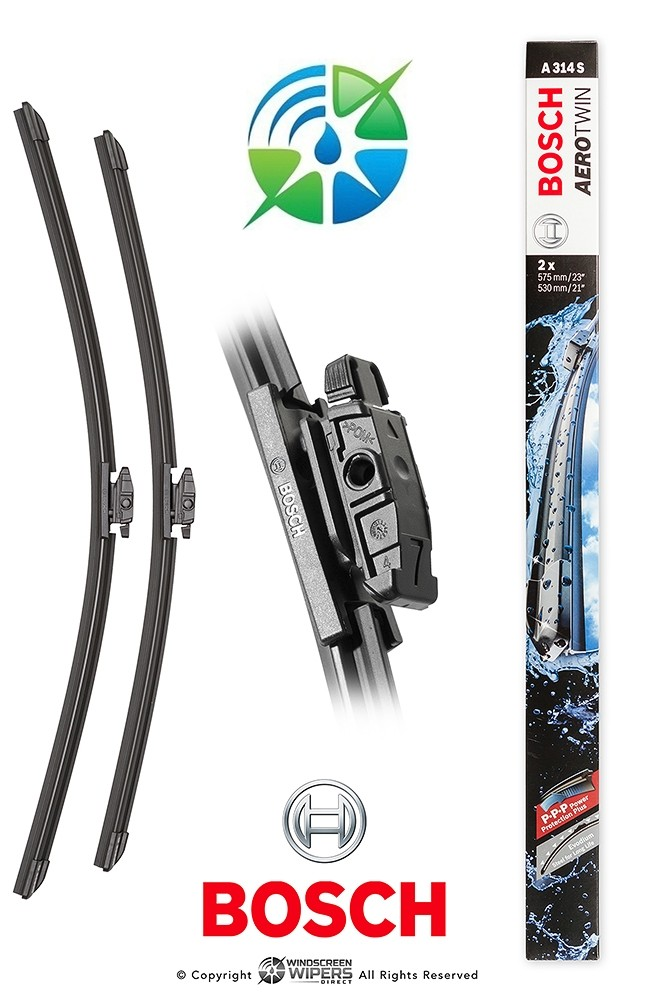 """A314S Bosch Aerotwin Front Twin Pack 23"""" (575mm) / 21"""" (530mm)"""