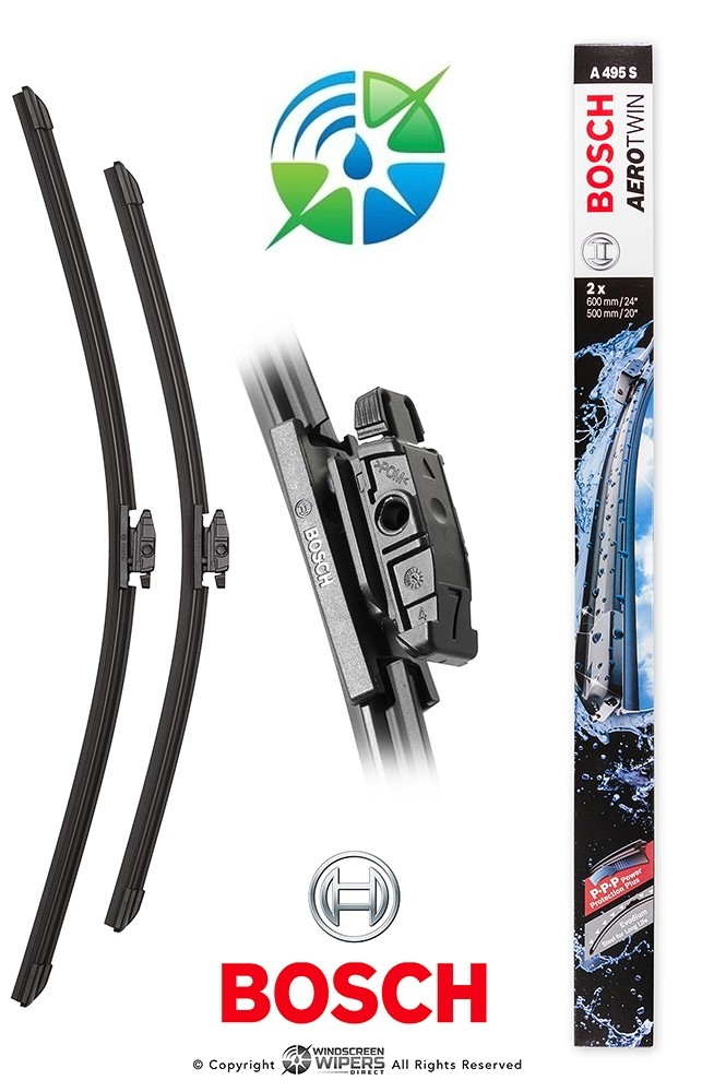 """A495S Bosch Aerotwin Front Twin Pack 24""""(600mm) 20""""(500mm)"""