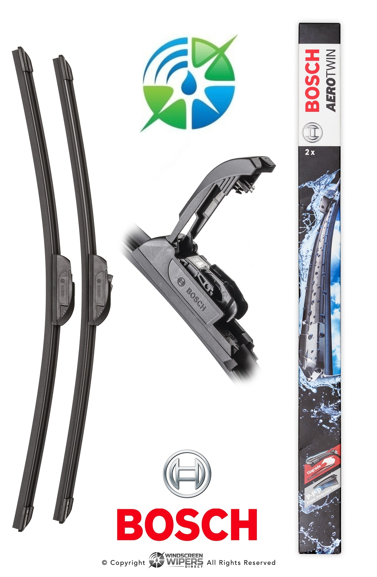 """AR997S Bosch Retro-Fit Twin Pack 24""""(600mm) 22""""(550mm)"""